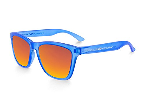 sol MATTE modelo Gafas ORANGE Polarized MOSCA BLUE and ALPHA de NEGRA TRANSPARENT 46xSnA1