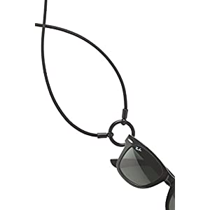 World Famous and Original LaLoop eyeglass necklace in Black.