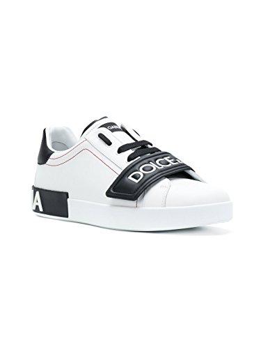 Sneakers Leder GABBANA DOLCE CS1573AN16989697 E Herren Weiss Schwarz wSZC1Fxq