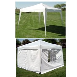 10 X 10' Quictent Silver Ez Set Pop up Gazebo Party Wedding Tent Canopy Marquee +4 Sidewalls and Carry Bag