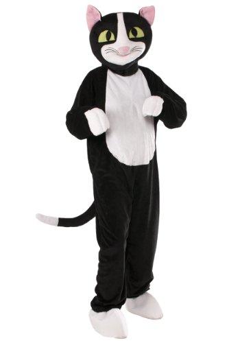 Forum Novelties Men's Catnip The Cat Plush Mascot Costume, Black, One Size -