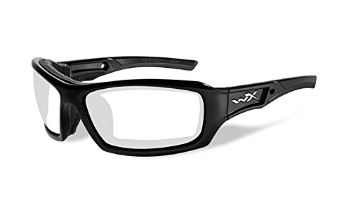 Wiley X Echo Glasses Lens: Color / Frame: Clear/Gloss Black Ccech03 by WILEY X, INC.