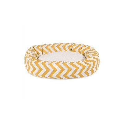 Majestic Pet Chevron Sherpa Bagel Bed, 24-Inch, Yellow by Majestic Pet