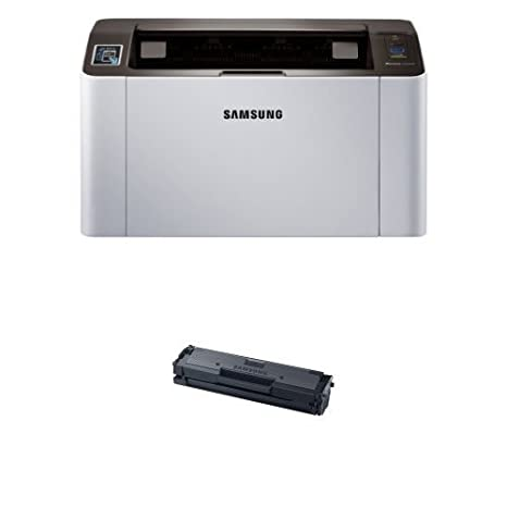 Samsung SL-M2020W/XAA Wireless Monochrome Printer and MLT-D111S Toner (Black)