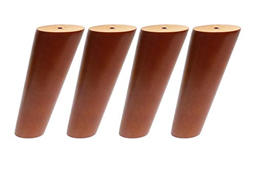 Walnut Couch - Round Solid Wood Furniture Legs Sofa Replacement Legs Perfect for Mid-Century Modern/Great IKEA hack for Sofa, Couch, Bed, Coffee Table (Walnut Color, 7 Inches,Set of 4)