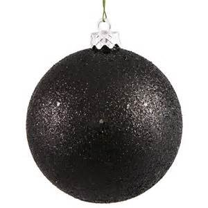hl christmas ornaments halloween black glitter balls shatterproof 12pcs