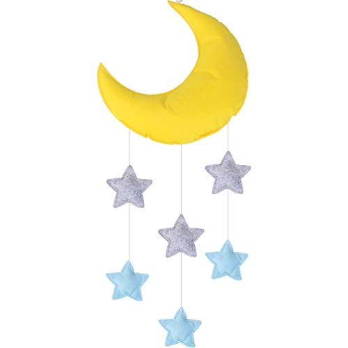 Baby Mobile for Crib Moon and Stars Baby Nursery Ceiling Crib Mobile Kids Room Hanging Decor
