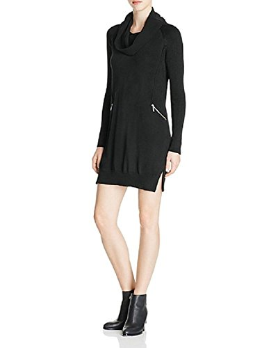 Design History Cowl Neck Sweater Dress (Black, XL)