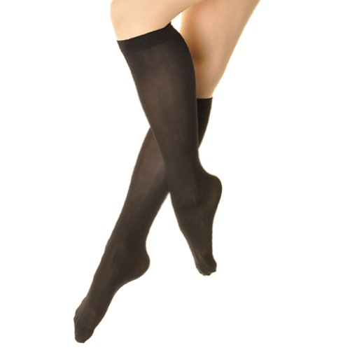 Angelina 70D Opaque Knee High Trouser Socks (Pack of 6 Pairs), #3307 Black, Size 9-11.
