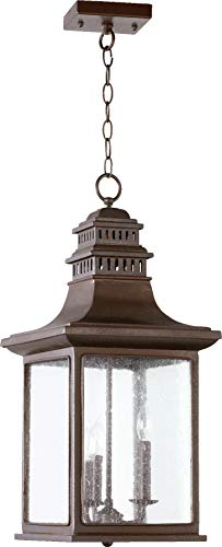 - Quorum 7045-3-86 Magnolia Wall Sconce, 3-Light, 180 Total Watts, Oiled Bronze