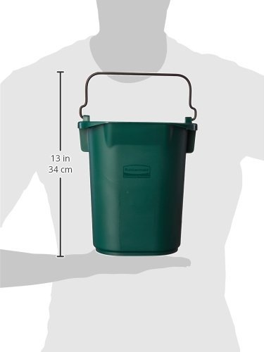 Rubbermaid Commercial Executive Series FG9T8400BLA 30 Quart Cleaning Cart Bin Black Rubbermaid Commercial Products