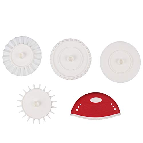 UMFun Multifunction Dough Prep Set Tool Pizza Cutter Cutting Wheel Fluted Wheel Red]()