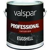 VALSPAR PAINT 11800 Interior High Hide Latex Paint White Eggshell, Gallon