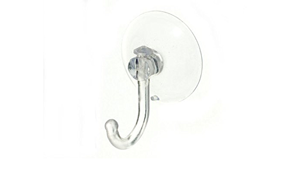 4 x CLEAR SUCTION WINDOW HOOKS WITH PLASTIC HOOK 45MM 1 3//4 INCH