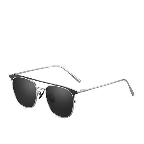 Bastidor sol pesca los gafas para sol Gafas polarizadas la aviador C4 sol sol de hombres gafas metal guía de Sunglasses viaje de La TL Smoke de gafas de Silver oro de C3 de de espejo de azul pRC5qq