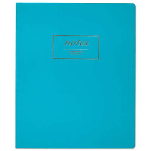- Fashion Casebound Business Notebook, 11 x 9, Teal, 80 Sheets