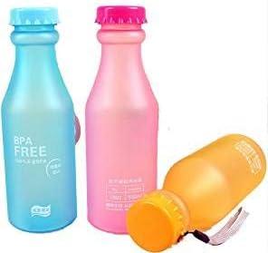 SayHia Botella de Agua Deportiva Libre de BPA de 550 ml de 3 Piezas, Botellas de Agua de plástico Reutilizables para Gimnasio, Ciclismo, Viajes, niños
