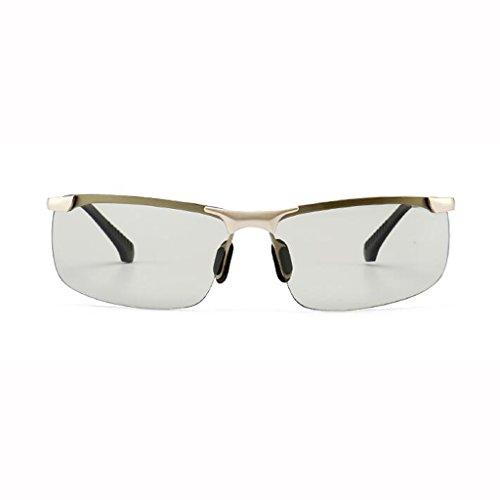 de conducir afluencia pesca noche Gafas Gafas de cambian de Gafas que polarizadas 4 para los hombres de de y inteligentes gafas color Discolored de de sol conducción hombres Frame; Silver sol B de Gafas Día colores opcionales ZCxpBqww