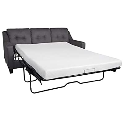 Milliard 4.5-Inch Memory Foam Replacement Mattress for Queen Size Sleeper Sofa and Couch Beds (Sofa Not Included) - Queen