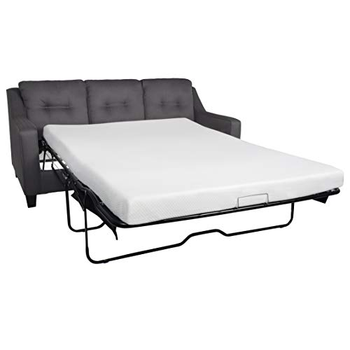 Milliard 4.5 Inch Memory Foam Replacement Mattress with Breathable,Waterproof and Washable Cover for Queen Size Sleeper Sofa and Couch Beds (Sofa Not Included) - Queen