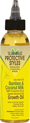 Hair Gro Oil - Taliah Waajid Hair Gro Bamboo and Coconut Milk Growth Oil, 4 Ounce