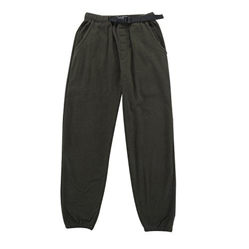 Krumba Men's Anti-Pilling Outdoor Micro-Fleece Zip Pants with Belt Size - Micro Fleece Pants