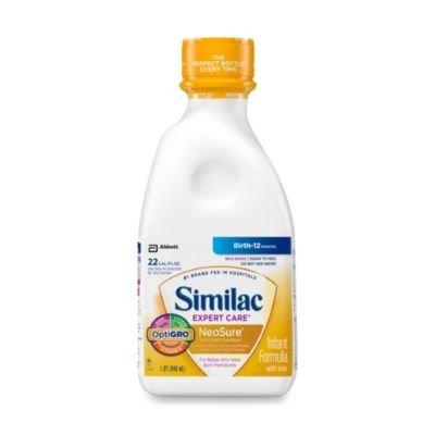 Similac Expert Care NeoSure Infant Formula Ready to Feed 1 qt. Plastic Bottle