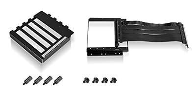 Lian Li O11D-1X, Premium PCI-E x16 3.0 Extender Riser Cable 200mm and Cover Bracket, Black