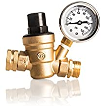Kanbrook Adjustable RV Water Pressure Regulator with TWO Inlet Screen Filters - 1 Year Hassle-Free Warranty