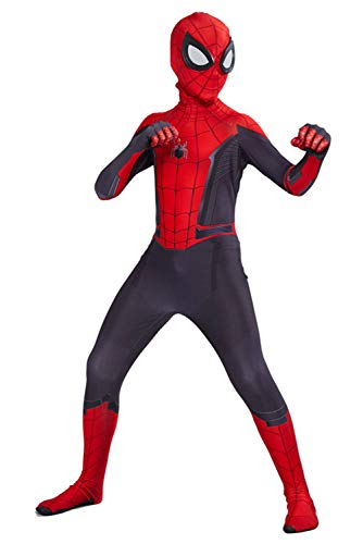 Kids Far From Home Peter Zentai Cosplay Costume Jumpsuit (L, Far From Home) -