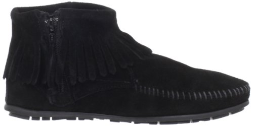 Feather Concho Boot Feather Feather Minnetonka Boot Minnetonka Concho Concho Minnetonka Noir Noir Boot EIqnC