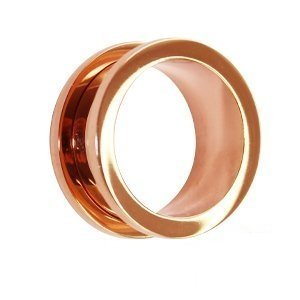 eeddoo Rosegold Steel - Tunnel - 10 mm (Piercing Flesh Tunnel Ohr Plug für gedehnte Ohren Lobes Tubes): Amazon.es: Joyería