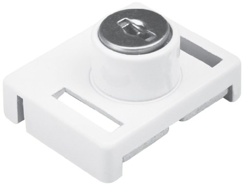 Prime-Line Products U 9839 Keyed Sliding Window Lock White Finish