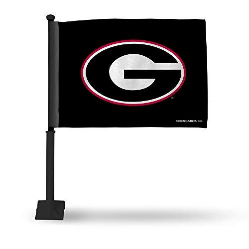 (Rico Industries NCAA Georgia Bulldogs Car Flag Black Pole)