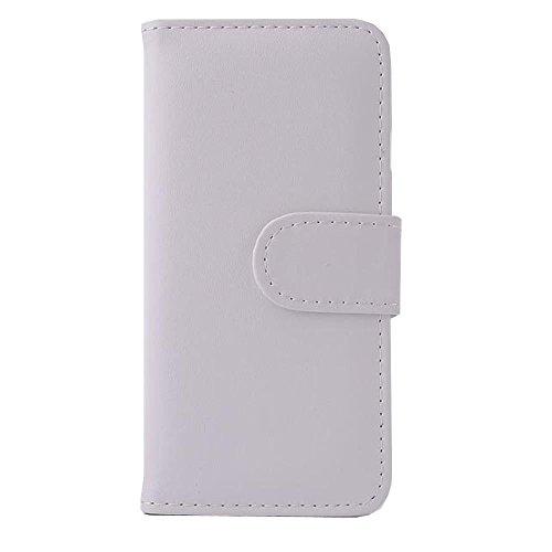 Flip en cuir PU T¨¦l¨¦phone Housse Etui pour iPhone 6 (Blanc)
