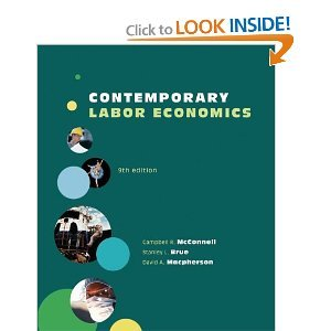 Contemporary Labor Economics 9th (Nineth) Edition byMacpherson ebook