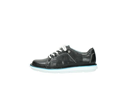 Summer Black Wolky Lace up Leather Comfort Coal 30070 Shoes Sx6q06gUw4