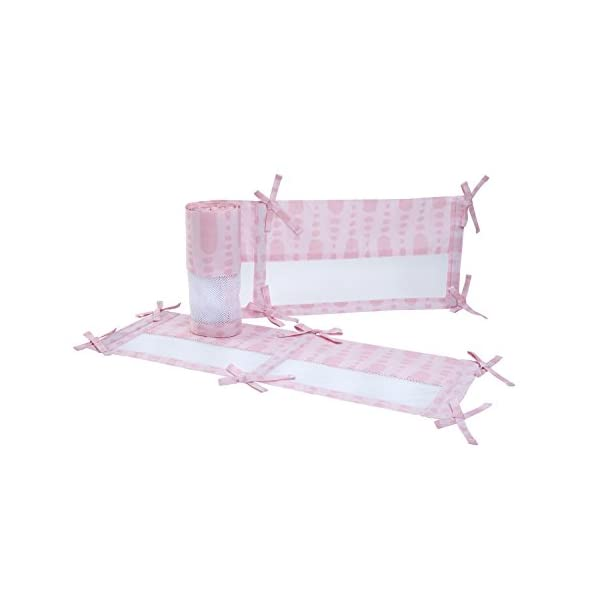 Carter's Sea Collection Secure-Me Crib Liner, Pink