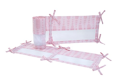 Deluxe Crib Organic (Carter's Sea Collection Secure-Me Crib Liner, Pink)