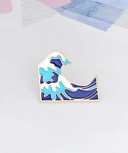 The Great Wave Hokusai Enamel Pin - Blue Wave Enamel Pin - Japan Wave Lapel Pin