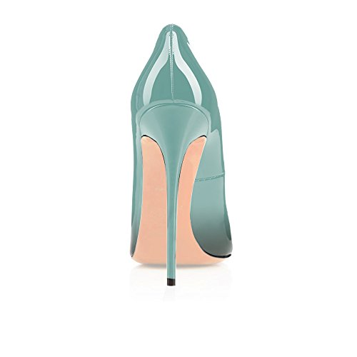 72in Emerald Toe Patent Eldof Stilettos 4 Party Dress Pumps Women's Pointed Classic Wedding Pumps Heel High 12cm SqYSaf