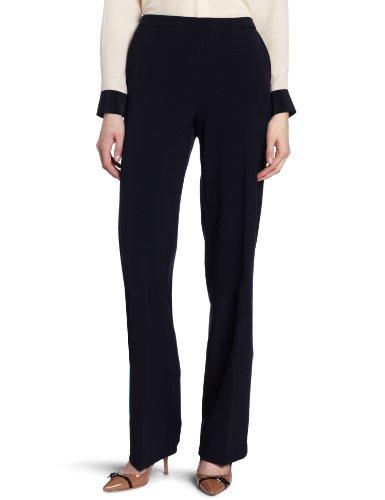 Briggs New York Women's Pull On Dress Pant Average Length & Short Length, Navy, 8 Short