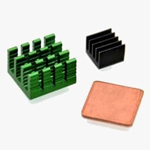 3pcs kit de disipador de calor de aluminio con coppor para pi frambuesa 2 modelo b