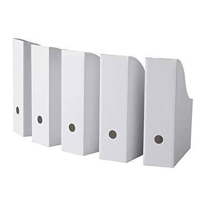 Genial Ikea Flyt 40 Magazine File Holder Paper Book Storage Office Desk Organizer  White Case U0026quot;