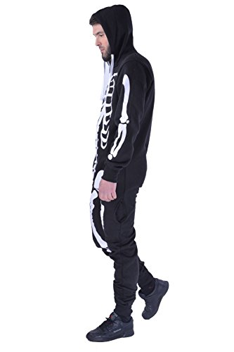 Unisex Mens Aztec Army Print Onesie Zip Up All in One Hooded Jumpsuit S-XL ()