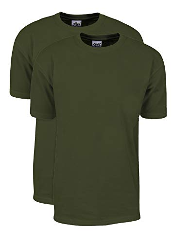 MHS56_2X Max Heavy Weight Cotton Short Sleeve T-Shirt Olive 2X 2pk
