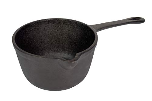 Jim Beam JB0204 Pre-Seasoned Heavy Duty Construction Cast Iron Basting Pot for Grilling and Oven, Large, -