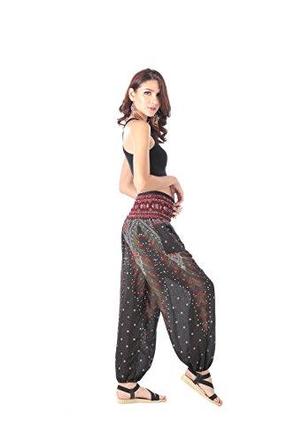 345f1c4039 CandyHusky Elastic Waist Loose Fit Baggy Gypsy Hippie Boho ...