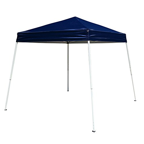 Z ZTDM Outdoor Pop-Up Canopy, Folding Tent Portable Pergola for Commercial Wedding Party BBQ Event, Sunshade Waterproof Heavy Duty (10' x 10' Blue)