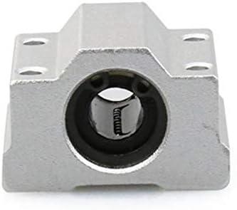 LHKJ 4PCS SC8UU Linear Motion Ball Bearing CNC Slide Unit Bushing Linear Roller Bearing Slide Block